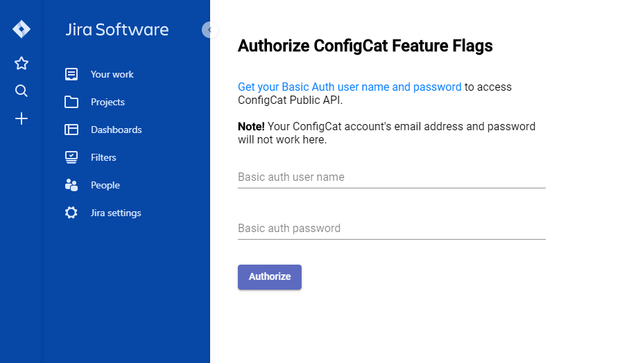 Installation of the ConfigCat Feature Flags Jira Cloud Plugin